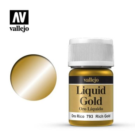 RICH GOLD (VALLEJO MODEL COLOR - ALCOHOL BASED) (NEW FORMULA!)