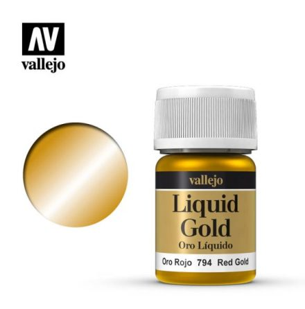 RED GOLD (VALLEJO MODEL COLOR - ALCOHOL BASED) (NEW FORMULA!)
