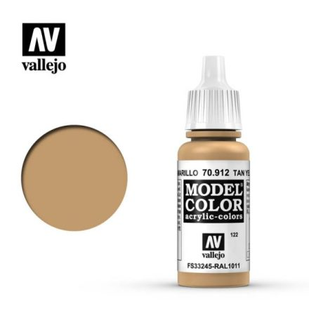 TAN YELLOW (VALLEJO MODEL COLOR) (6-pack)