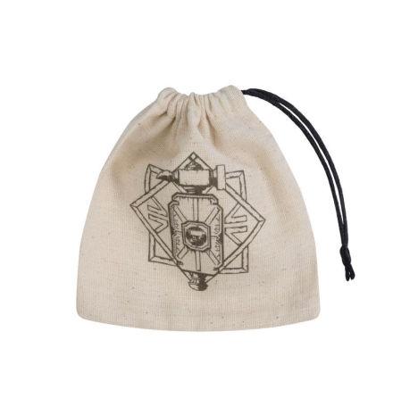 Dwarven Beige & black Basic Dice Bag