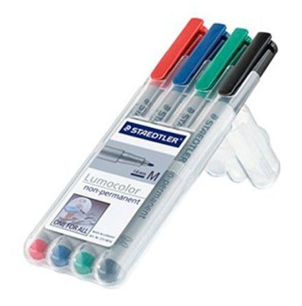 Water Soluble Markers:4-Pack (Red,Blue,Green,Black)