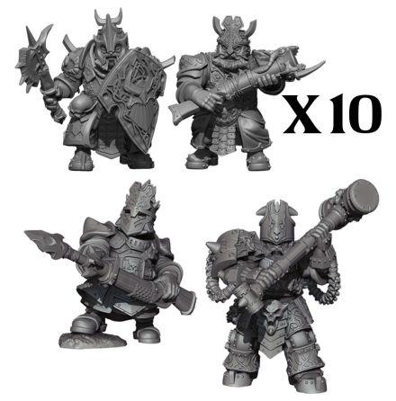 VANGUARD: Abyssal Dwarf Warband Set