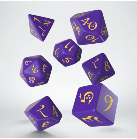 Classic RPG Purple & yellow Dice Set (7)