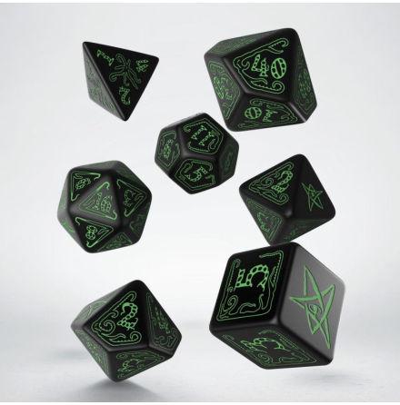 Call of Cthulhu Black & green Dice Set (7)