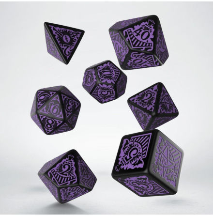 Horror on the Orient Express Black & purple Dice Set (7)