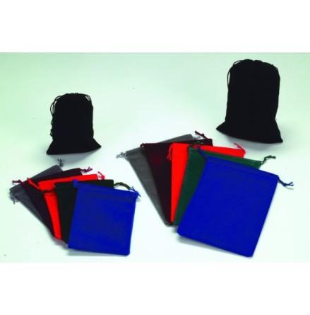 Suedecloth Dice Bag (L): Grey