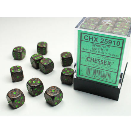 Speckled 12mm d6 Earth Dice Block (36 dice)