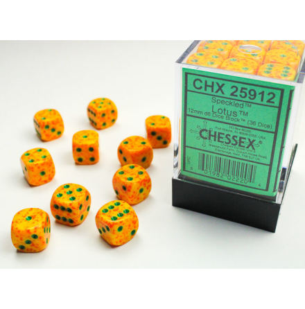 Speckled 12mm d6 Lotus Dice Block (36 dice)