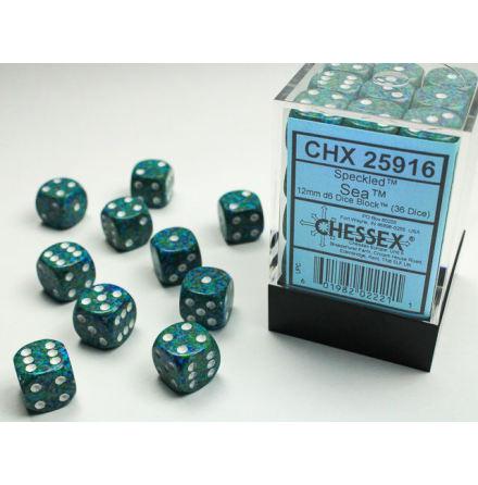 Speckled 12mm d6 Sea Dice Block (36 dice)