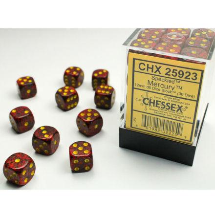 Speckled 12mm d6 Mercury Dice Block (36 dice)