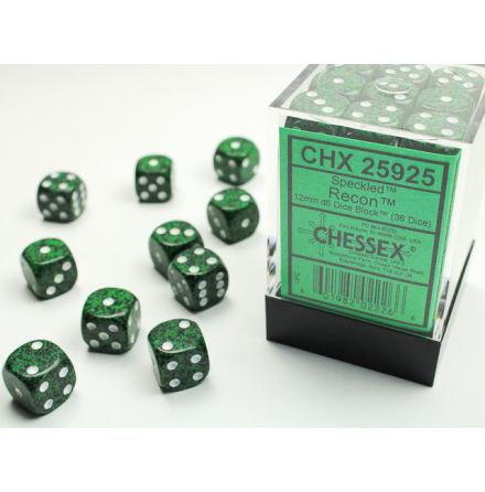 Speckled 12mm d6 Recon Dice Block (36 dice)