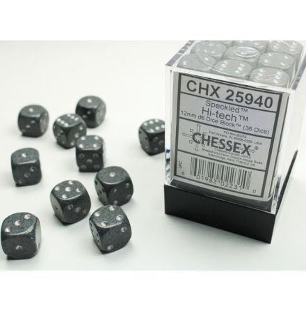 Speckled 12mm d6 Hi-Tech Dice Block (36 dice)