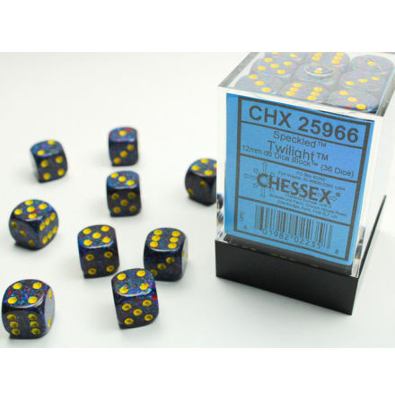 Speckled 12mm d6 Twilight Dice Block (36 dice)