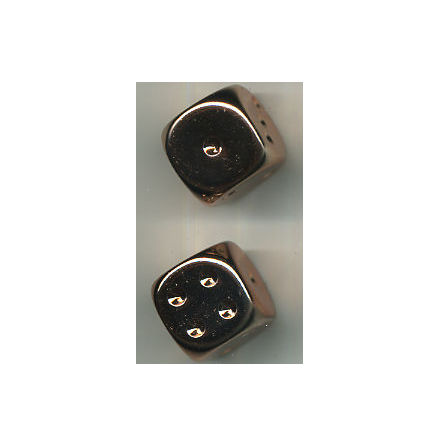 Copperplated Metallic 16mm d6 Pair