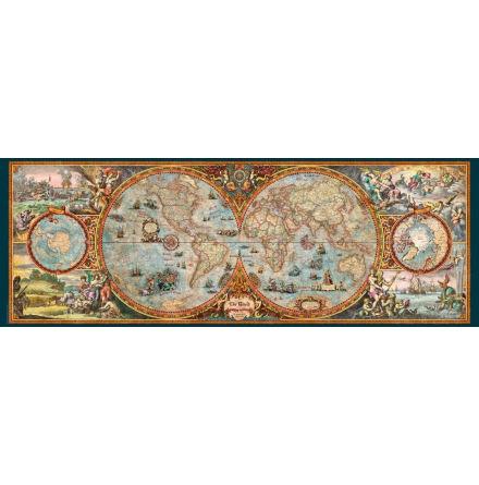 Map Art: Hemisphere Map (6000 pieces panorama)