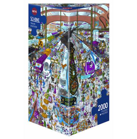 Schöne: Train Station (2000 pieces triangular box)