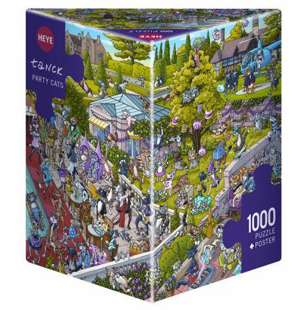 Tanck: Party Cats (1000 pieces triangular box)