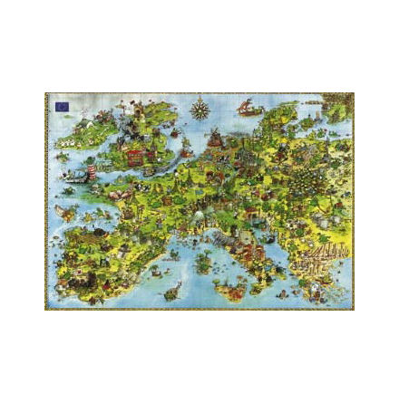 Degano: United Dragons of Europe (4000 pieces triangular box)