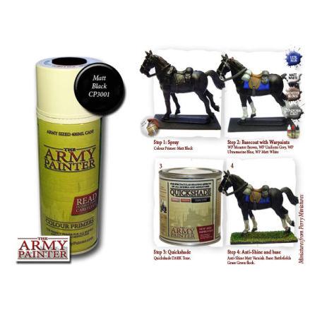 ArmyPainter Base Primer Spray - Matt Black