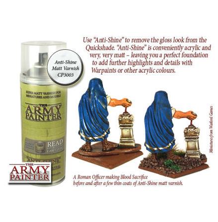 ArmyPainter Base Primer Spray - Anti Shine, Matt Varnish