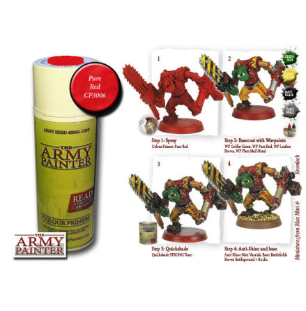 ArmyPainter Colour Primer Spray - Pure Red