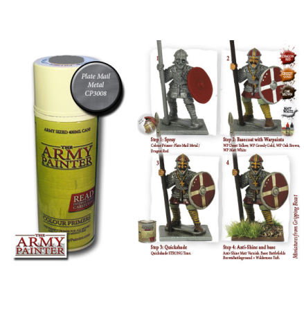 ArmyPainter Colour Primer Spray - Plate Mail Metal