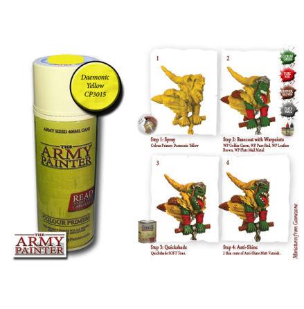 ArmyPainter Colour Primer Spray - Daemonic Yellow