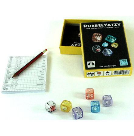 DUBBELYATZY / DICE-IN-DICE YATZY / DOPPELYATZY (Rules in Swe, Eng, Ger)