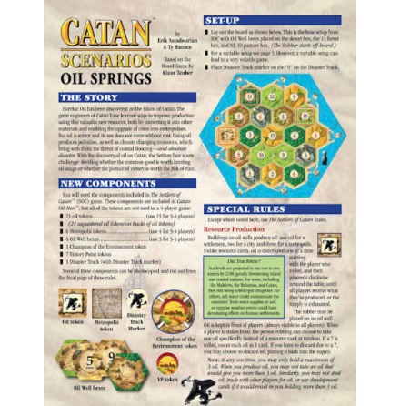 The Settlers of Catan Scenarios: Oil Springs (4th Edition)