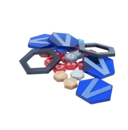 DreadBall Xtreme Acrylic Counters - Blue (20% rabatt/discount!)
