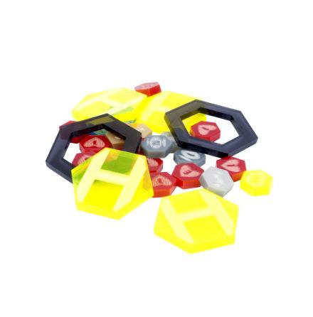 DreadBall Xtreme Acrylic Counters - Yellow (20% rabatt/discount!)