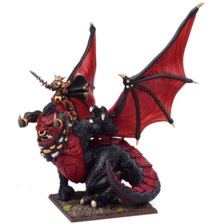 Abyssal Dwarf Iron-caster on Great Winged Halfbreed