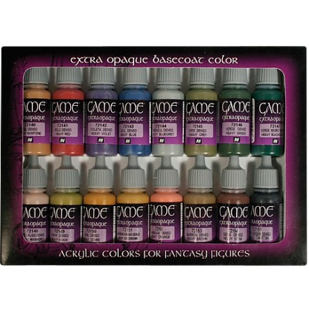 GAME COLOR EXTRA OPAQUE BASECOAT SET (16 colors)