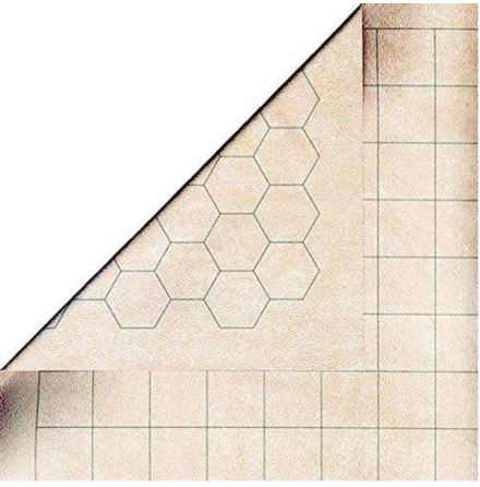 Reversible Megamat 1inch squares and 1 inch hexes (34,5 x 48 inch)