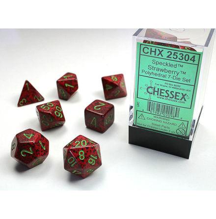 Speckled Polyhedral Strawberry 7-Die Set