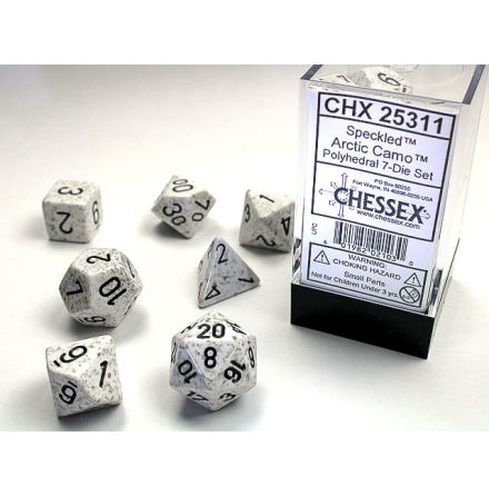 Speckled Polyhedral Arctic Camo 7-Die Set