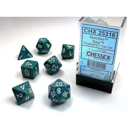 Speckled Polyhedral Sea 7-Die Set