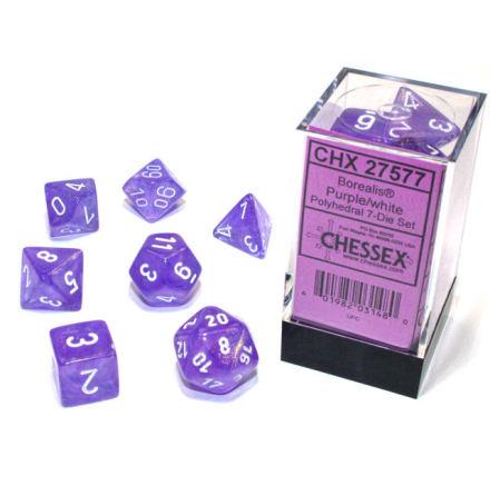 Borealis® Polyhedral Purple/white Luminary 7-Die Set
