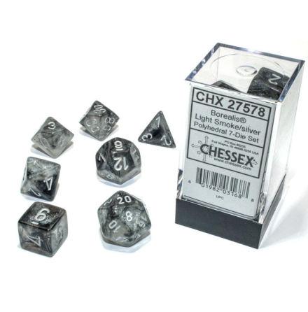 Borealis® Polyhedral Light Smoke/silver Luminary 7-Die Set