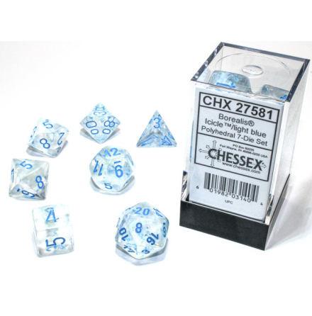 Borealis® Polyhedral IcicleTM/light blue Luminary 7-Die Set