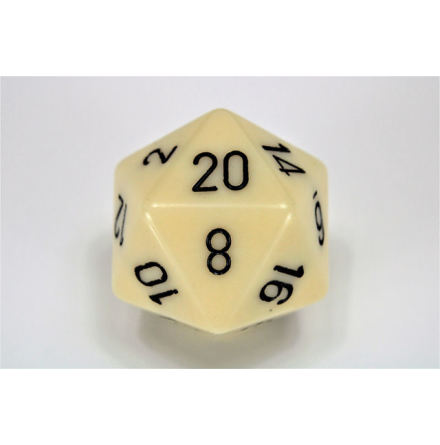 Opaque 34mm d20 Ivory/black