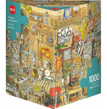 Adolfsson: Music Maniac (1000 pieces triangular box)
