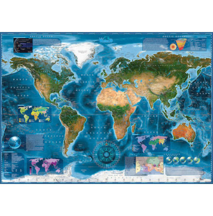 Map Art: Satellite Map (2000 pieces)