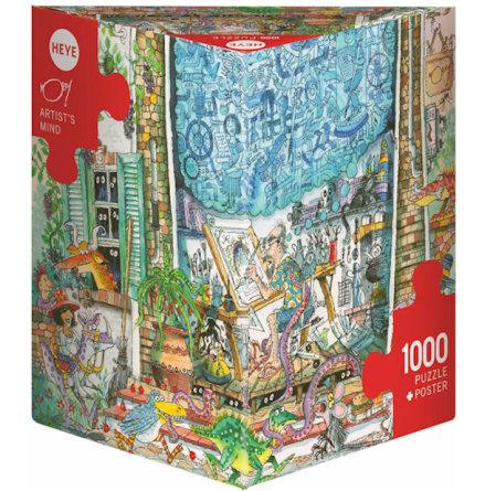Korky Paul: Artist´s Mind (1000 pieces triangular box)