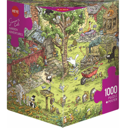 Simon´s Cat: Garden Adventures (1000 pieces triangular box)