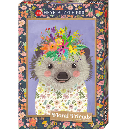 Floral Friends: Funny Hedgehog (500 pieces)