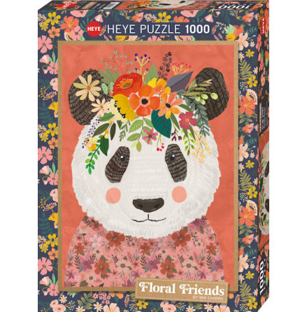 Floral Friends: Cuddly Panda (1000 pieces)