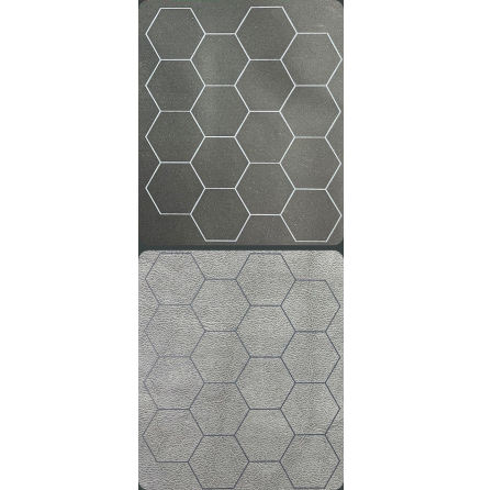 Megamat™ 1inch Reversible Black-Grey Hexes (release Juli)