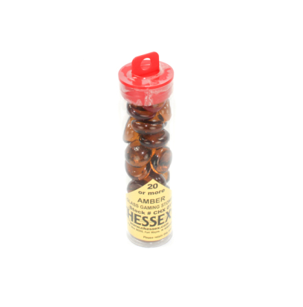 Amber Glass Stones Qty 20 or more in 5 1/2´ Tube´