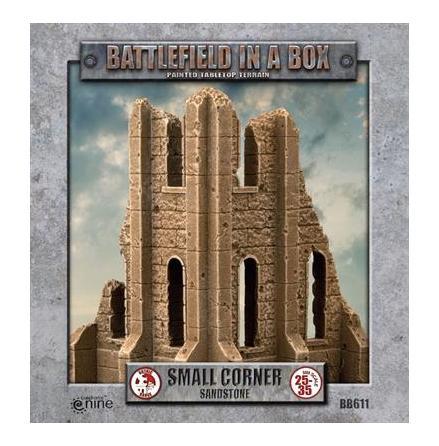 Gothic Battlefields - Small Corner - Sandstone (x2) - 30mm